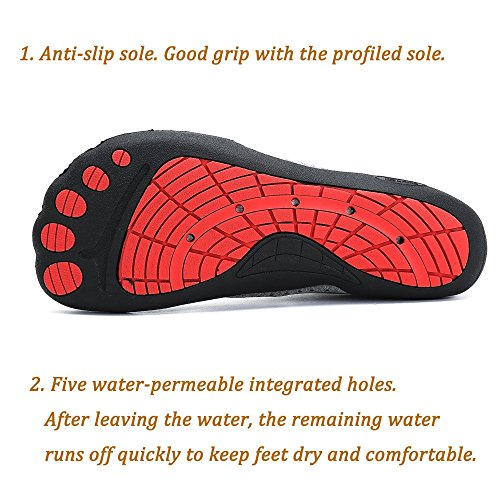Azul Zapatillas Secado Mujer Playa de Rápido Natacion Snorkel Piscina Descalzo Escarpines Hombre Surf Zapatos Buceo Agua Antideslizante para qTSwF