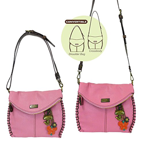 Flap Purse Metal With and with Cross Pink Flap Shoulder Handbag Crossbody Chala Body Fox Top Charming Zipper or Bag Chain wYnSP