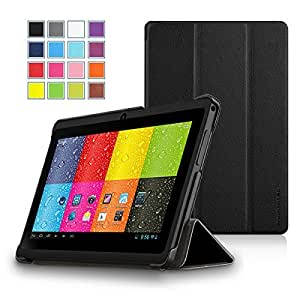 "ProntoTec SlimFit Series 3-Fold Cover for 7"" Android Tablet (Compatible Model: Dragon Touch 7"" Y88, A13 Q88, Matricom G-Tab Nero CX2, ProntoTec 7"" Y88, ProntoTec Axius Series 7"", Axis A23 7"", Simbans S74 7"", NORIA T2 7"", Zeepad, Chromo, FONESO HH017 7"" A23, NeuTab N7 7'', Noria JR 7"") (Black)"