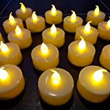 GOYAL® Flickering Flameless LED Yellow Tealight Birthday/Festival / Anniversary/All Purpose (Set of 12) - Led Tea Light Candle