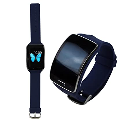 Oksell® Replacement Smartwatch Wrist Band Strap TPU Loop Type Closure For Samsung Galaxy Gear S R750 (Navy)