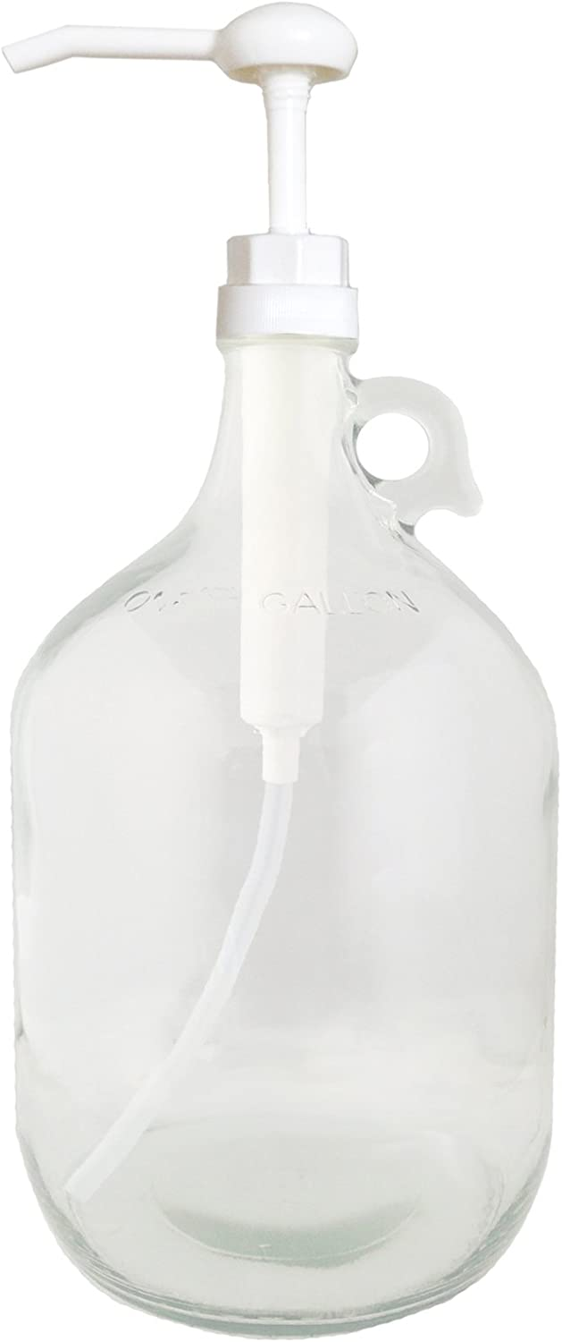 Glass Gallon Jug with Pump
