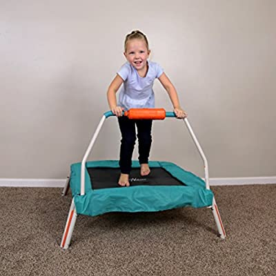 """Skywalker Trampolines 36"""" Square Jump-N-Count Interactive Trampoline Mini Bouncer with Sound : Sports & Outdoors"""