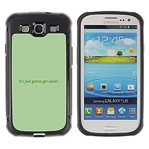 iKiki Tech / Estuche rígido - Green Message Moss Text Inspiring - Samsung Galaxy S3 I9300