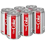 Diet Coke Mini-Can, 7.5 Fluid Ounce (Pack of 6)