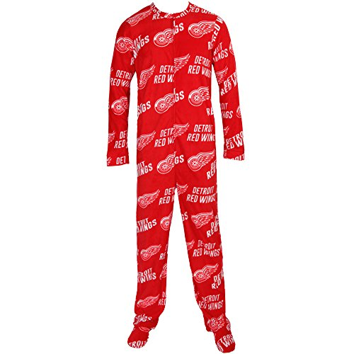 Concepts Sport Detroit Red Wings NHL Wildcard Unionsuit Pajamas (Medium) Concept Sports Detroit Red Wings