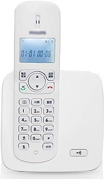 Yingying Teléfono inalámbrico Teléfono inalámbrico inalámbrico Blanco teléfono Independiente teléfono Negro máquina casera teléfono inalámbrico función de Alarma del Reloj (tamaño 107 * 174 mm): Amazon.es: Electrónica
