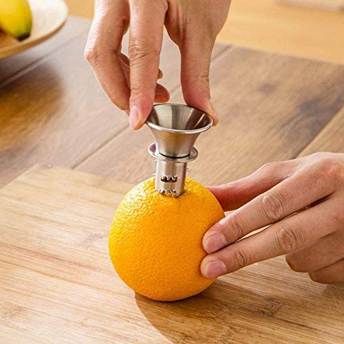 HHFZH Exprimidor De Limón Acero Inoxidable Portátil Cítrico Zumo De Naranja Exprimidor De Mano Fruta Fresca Utensilios De Cocina