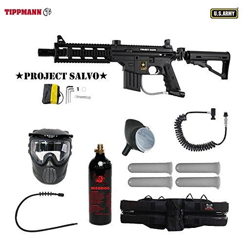 US Army Project Salvo Paintball Marker Gun 3Skull 4+1 Mega Set + Remote (Project Salvo Paintball Guns)