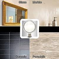 Raylix - Espejo de ducha con ventosa potente y gancho de ...