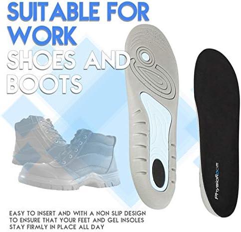 rutschfeste Bequeme Schuheinlagen aus Schaumstoff mit Geleinlage. Stoßdämpfend orthopädische Polsterung für EIN hohes Maß an Komfort - Ideal für Männer und Frauen mit Plantarfasziitis
