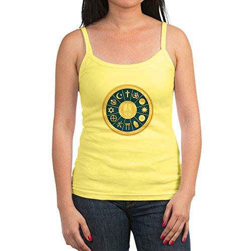 Royal Lion Jr. Spaghetti Tank International Peace Symbol Religions - Lemon, Medium