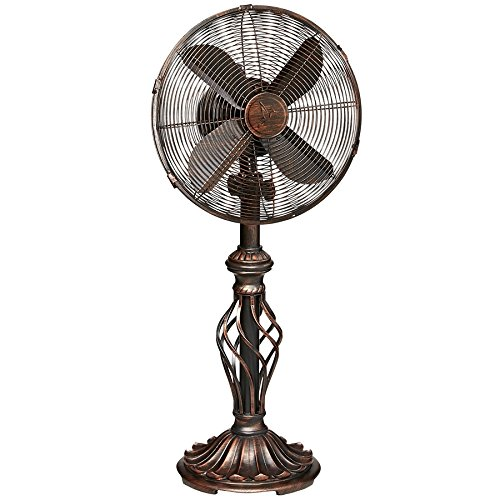 Oscillating Table Fan for Your Desk, Kitchen, Office, Bedroom - 12 Inch Fan Head, 3 Speeds with Tilting Head for Cooling Your Room Fast - Small, Quiet, Portable, Personal Desktop ()