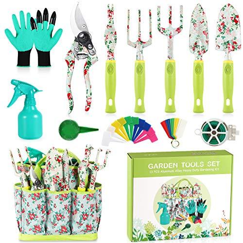 Set de Jardinería con estampa floral c/ bolsa organizadora