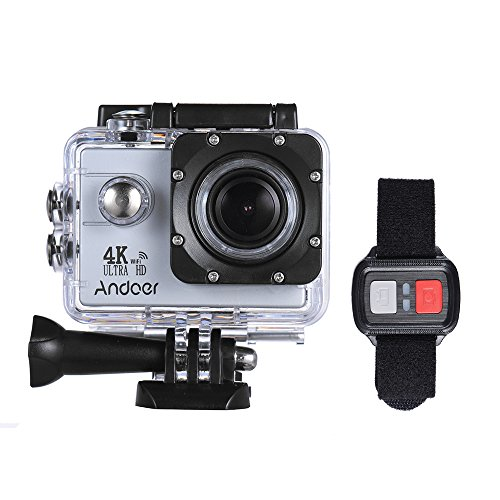Andoer AN4000 WiFi 4K 30fps 16MP Action Sports Camera 1080P 60fps Full HD 4X Zoom Waterproof 40m 2″ LCD Screen 170° Wide Angle Lens Support Slow Motion Drama Photography with Remote Control For Sale