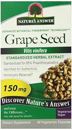 Nature s Answer Grape Seed Vegetarian Capsules, 60-Count