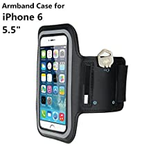 AFUNTA Sport Armband Case Running Pounch Phone Bags Cases Pouch Holder For iPhone 6 Plus 5.5 inch