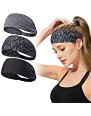 Headbands for Women,T Tersely 3 Pack Women Sport Workout Yoga Headband Non Slip Lightweight Soft Wicking Stretchy Multi Style Bandana Head Wrap Ideal for Fitness Exercise