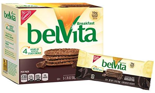belVita Chocolate Breakfast Biscuits, 5Count Box, 8.8 oz (Pack of 6)