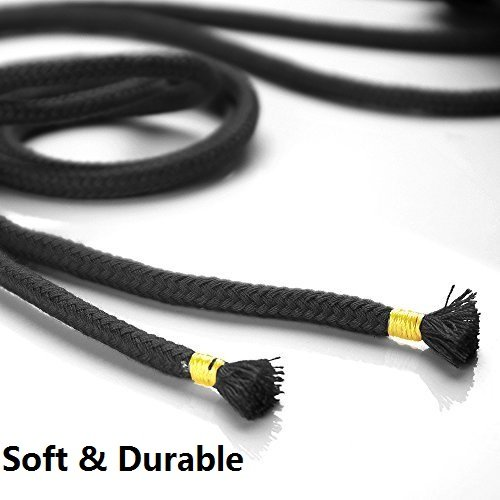 Black Pack of 3 1//3-Inch Diameter Pack of 2 x 33 Feet /&1 x 16 Feet EROKAY All-Purpose Soft Cotton Rope