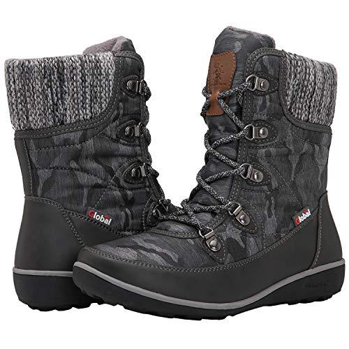 GLOBALWIN Women's 1841 Grey Winter Snow Boots 7.5M ()