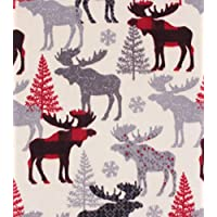MOOSE Silhouette ~ Fleece Baby Blanket