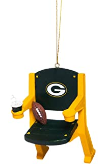 NFL Green Bay Packers Football Stadium Chair Christmas Ornament, Small,  Multicolored