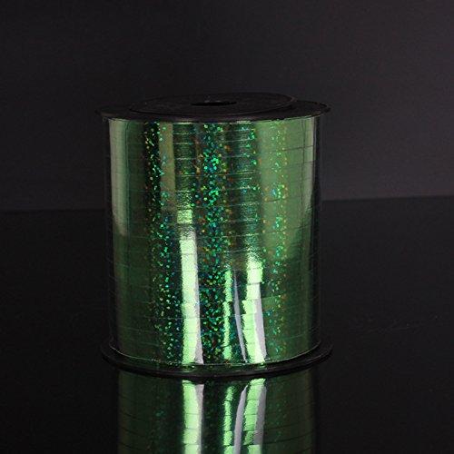 compleanni iTemer lucido nastro colorato per palloncini per feste matrimoni decorazione di 200/cm verde banchetti