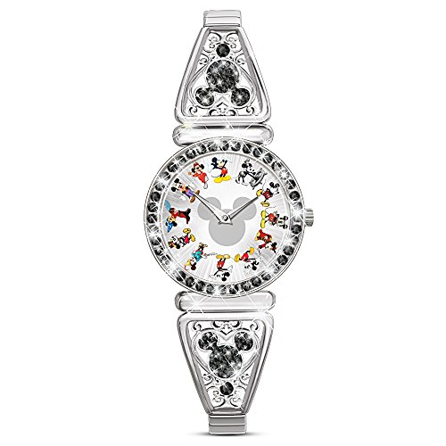 Disney Mickey Mouse Through The Years Women's Stretch Watch by The Bradford Exchange