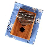 Shirleyle Standard C Tune Thumb Piano 17 Keys Kalimba Portable Finger Piano Wood Body Metal Tines with Tuning Hammer Carry Bag African Musical Instrument Kids Gifts for Music Lover Beginners