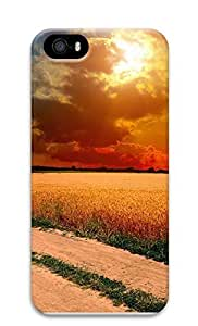 iPhone 5 5S Case landscapes nature sunset road 3 3D Custom iPhone 5 5S Case Cover