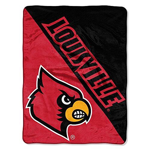 Comforter Cardinals Louisville (The Northwest Company Officially Licensed NCAA Louisville Cardinals Halftone Micro Raschel Throw Blanket, 46
