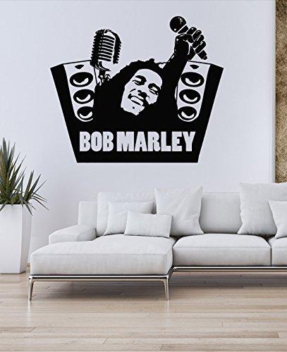 Music Bob Marley Wall Decal Art Vinyl Family Ikea Wallpaper Living
