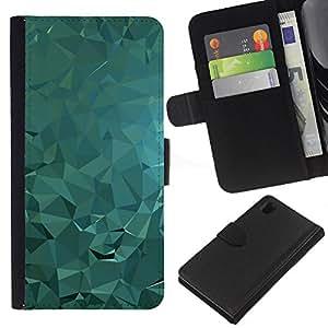All Phone Most Case / Oferta Especial Cáscara Funda de cuero Monedero Cubierta de proteccion Caso / Wallet Case for Sony Xperia Z1 L39 // Polygon Abstract Fluid Water Light