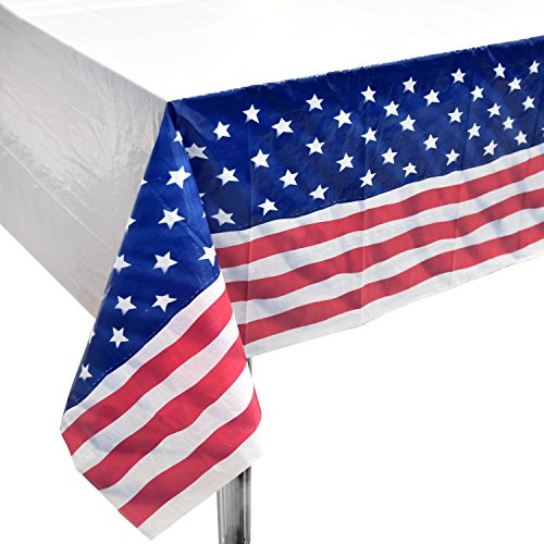 Plain Tableware - 4 Patriotic Tablecloth 54