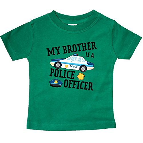 - inktastic - My Brother is a Police Baby T-Shirt 12 Months Kelly Green 2f987
