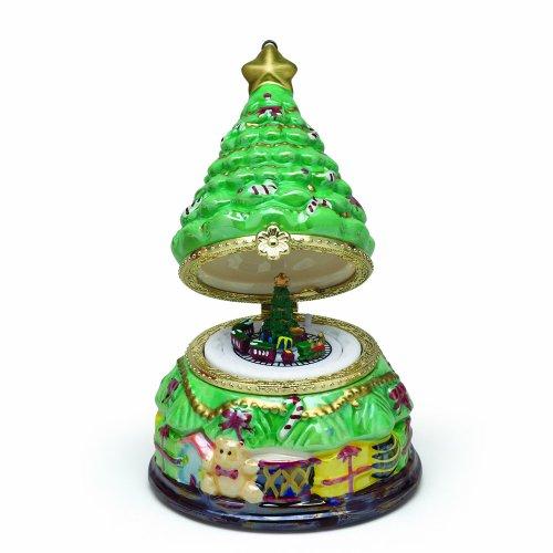 Mr. Christmas Mini Porcelain Music Box, Christmas Tree