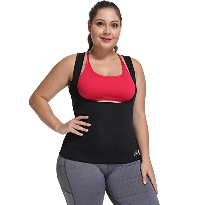 0f12f354787c3 Women s Hot Sweat Slimming Neoprene Shirt Waist Trainer Corset Vest Tummy  Control Body Shaper for Weight