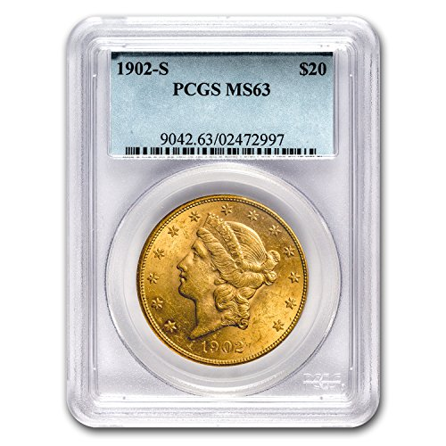 1902 S $20 Liberty Gold Double Eagle MS-63 PCGS G$20 MS-63 PCGS