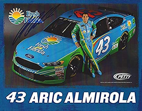AUTOGRAPHED 2017 Aric Almirola #43 Fresh from Florida Ford (Richard Petty Motorsports) Monster