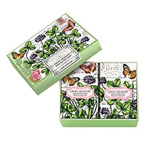 Michel Design Works Double Soap Bar Boxed Set, Green Meadow