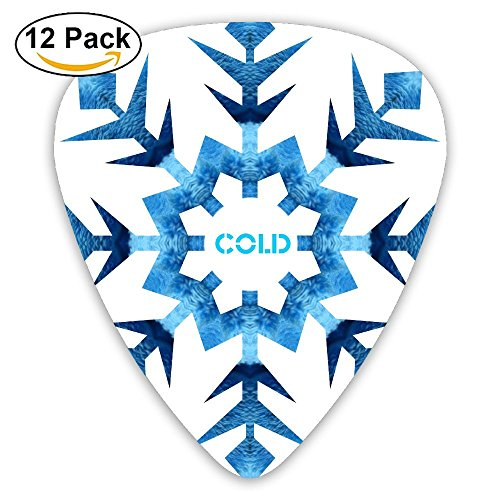 BaPaLa Snowflake Cold Arrows Guitar Picks Bass Thin Medium Heavy Pack Of 12 Music Tool ()