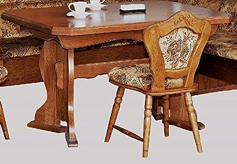 Unbekannt Kuchentisch Eiche Rustikal Ausziehbarer Tisch Esstisch Eiche Rustikal P43 2187 Amazon De Kuche Haushalt