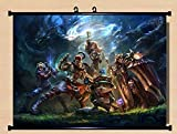 NEW Home Decor Anime League of Legends LoL Whole Roles Cosplay Wall Scroll Poster Fabric Painting 22 X 16 Inches-2876 by CoSmile