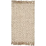 Safavieh Natural Fiber Collection NF450A Hand Woven Natural and Ivory Jute Area Rug (2'6' x 4')