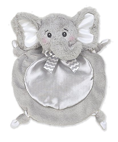 Bearington Baby Wee Lil' Spout Elephant Small Plush Security Blankie, Lovey, 8