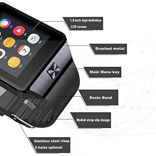 Bluetooth-Smart-Watch-with-Camera-Aosmart-DZ09-Smartwatch-for-Android-Smartphones