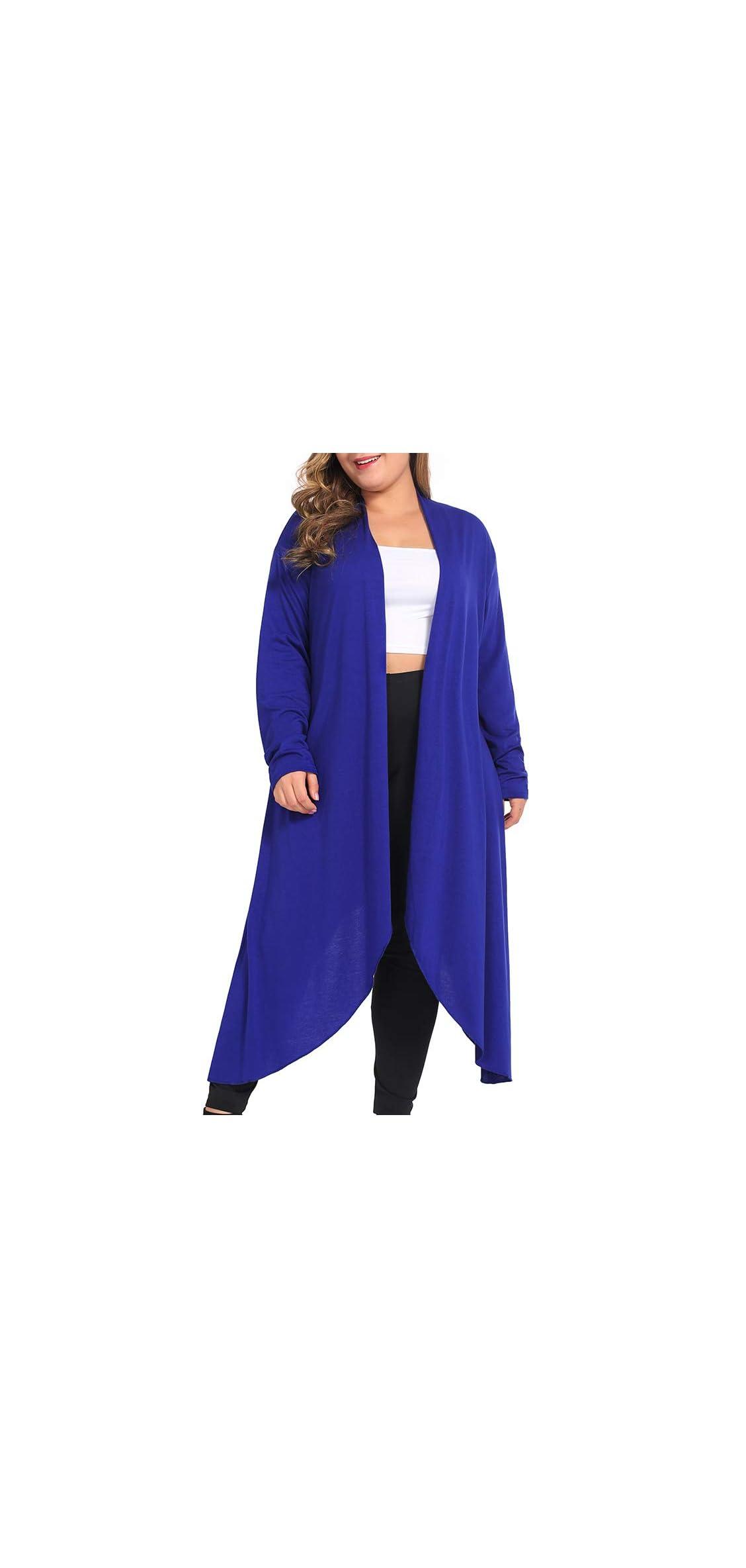 Women's Plus Size Cardigans Long Sleeve Casual Open