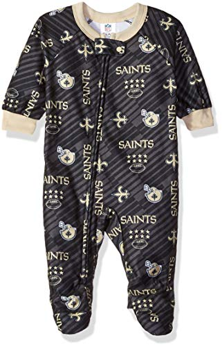 - NFL New Orlean Saints Unisex-Baby Blanket Sleeper, Black, 18 Months