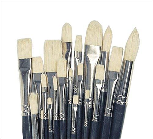 Creative Mark Pro Stroke Premium Artist White ChungKing Hog Bristle Paint Brush - 180 Piece Count Class Value Pack [Bulk]